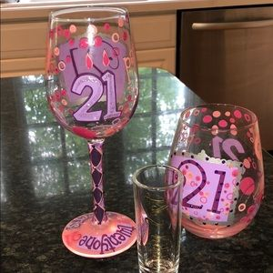 Other - Lolita Stemmed and Stemless 21st Wine Glasses